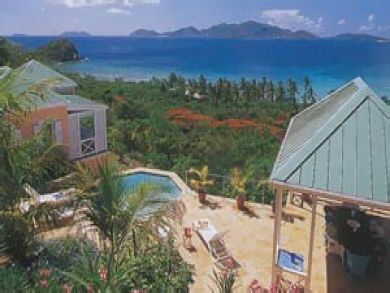 Beachfront villa for rent in Tortola, BVI