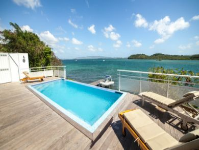 Oceanfront vacation home in Les Trois Ilets, Martinique