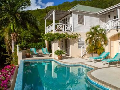 Bay & ocean view vacation home with private pool in Antigua