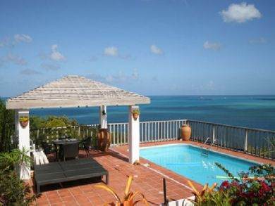 Ocean view home for rent with pool in Antigua & Barbuda