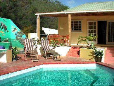 Poolside sun loungers