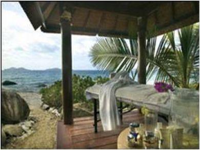 A seaside massage pavilion