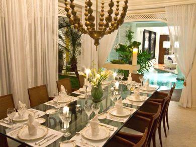 Dining room seats ten
