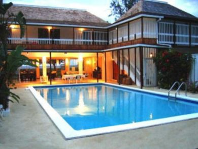 Beach front rental home with pool in Jamaica