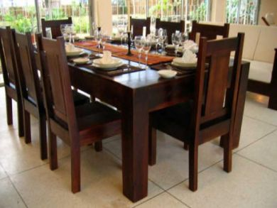Dining table seats eight