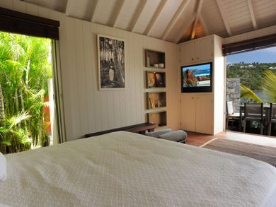 Bedroom open to porch