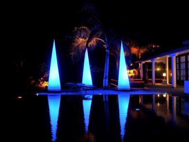 Pool view at night