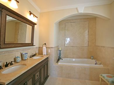 Bathroom with tub & walk-in shower