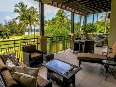 Golf course & tropical rainforest view rental villa in Rio Grande, Puerto Rico