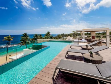 Beach front penthouse with private pool in Dorado Beach, Puerto Rico
