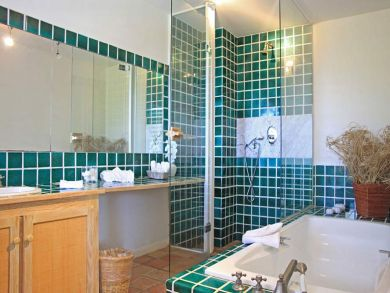 Bathroom with separate tub & shower