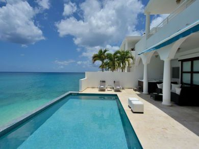 St Martin rental villa on beach