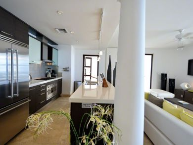 Kitchen & living area