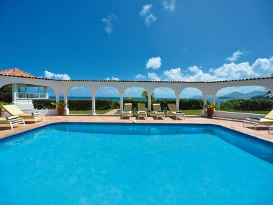 Ocean view vacation home with pool in St Martin