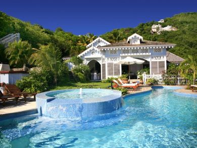 St Lucia vacation rental with pool