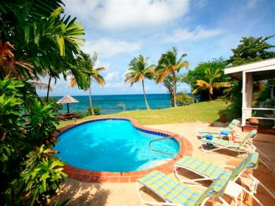 St Lucia vacation home with pool & ocean view