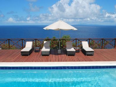 Ocean view home for rent with pool in St Lucia