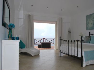 Bedroom open to balcony