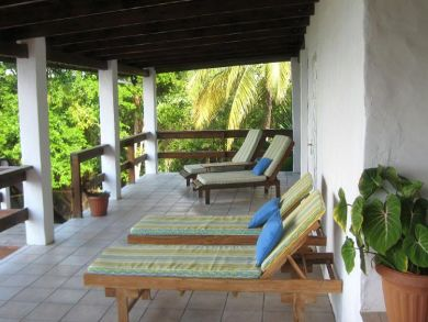 Porch with lounging chairs