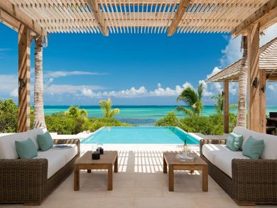 Ocean front home in Thompson Cove, Turks and Caicos