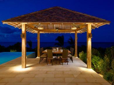 Poolside table set