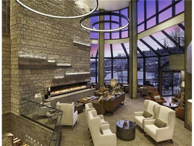 Large fireplace in communal living areas