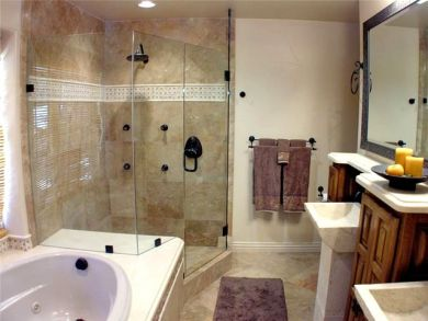 Master Bathroom with Whirlpool Tub & Walk-in Shower