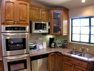 Equipped Kitchen with Stainless Steel Appliances