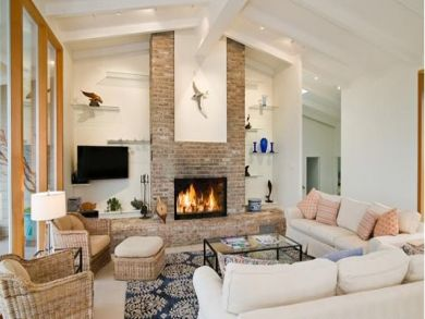 Living Room with Fireplace & Flat Screen TV