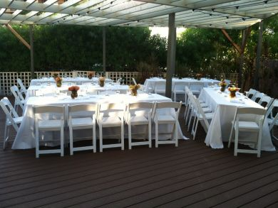 Outside Seating Area for Weddings or Events