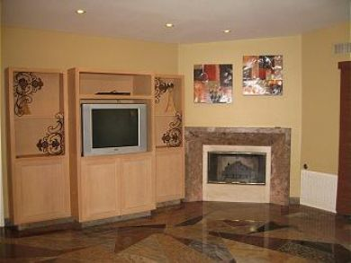 Fireplace & TV in Living Area
