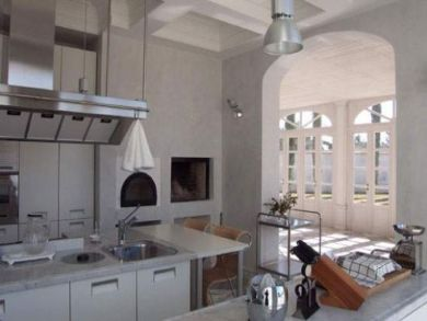 Kitchen Opens to Balcony