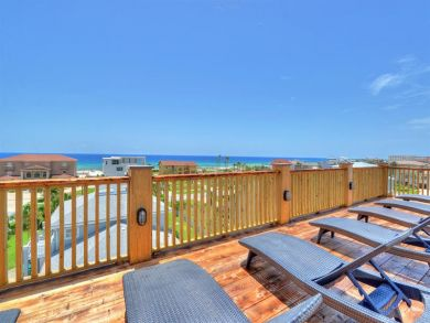 View from Deck with Sun Loungers