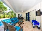 Outdoor seating area at this Siesta Key Rental