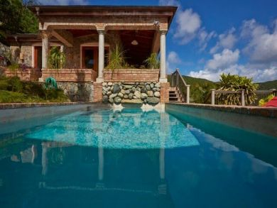 Beautiful 3 Bedroom St John Pool Villa Bay Views Sleeps 6