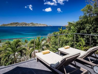 Sun Loungers with Ocean Views