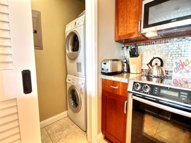 Kitchen with Laundry Area