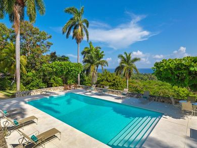 Luxury Jamaica Villa with Views to Moon Bay Pool, Gym, Staff
