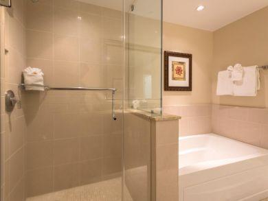Bathroom - Walk in shower and tub