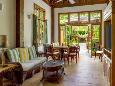 A Rare One Bedroom Villa with Staff Set Along Private Beach