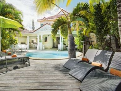 Guadeloupe Vacation Home Sleeps Nine Guests.