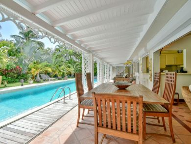 Guadeloupe Vacation Home Sleeps Eight Guests.