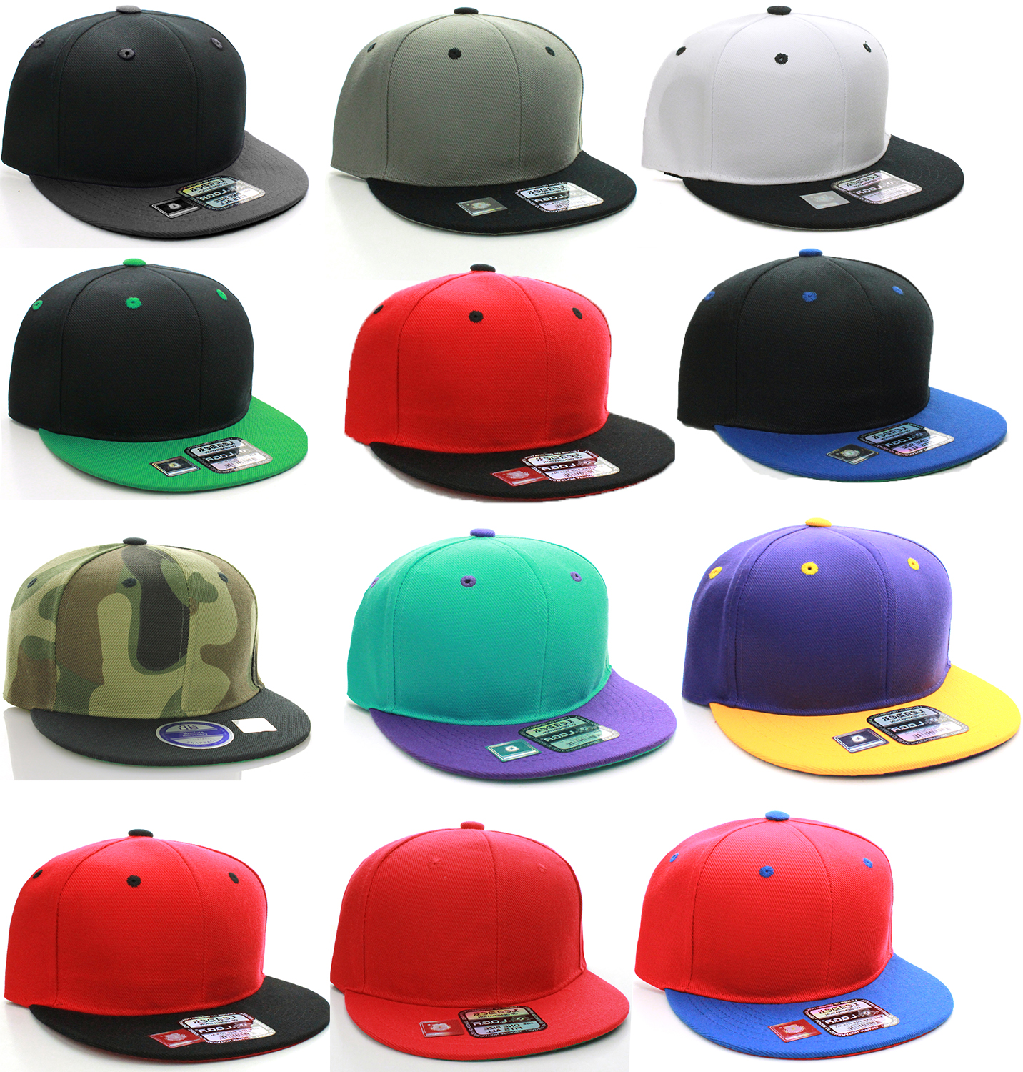 e91c3768e1d45 Details about D&I Classic Blank Snapback Flat Bill Visor Hat Cap w  Adjustable Snap Back