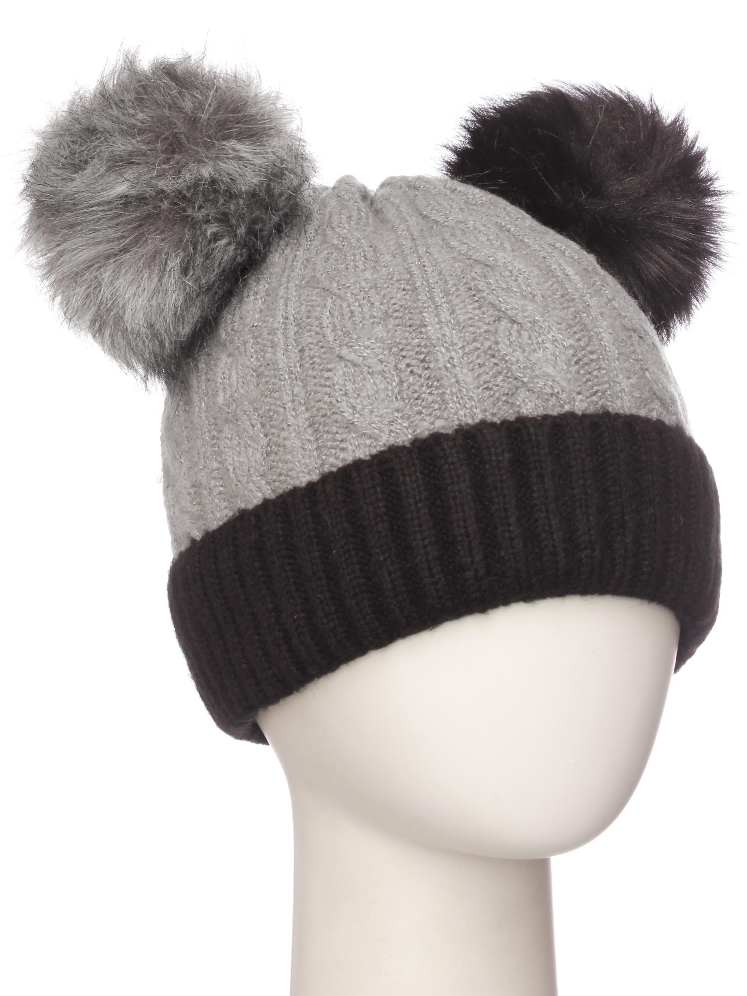 6d1e13df732 Emmalise Women s Double Pom Pom Winter Beanie Warm Winter Knit Hat ...