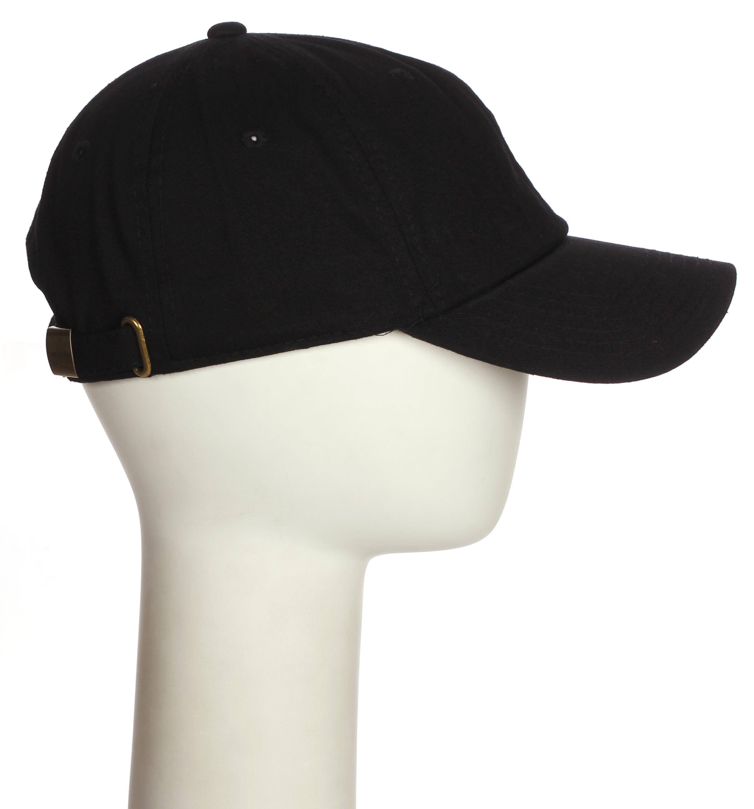 2e043c2d44731 Classic Baseball Cap Hat 3D Raised Initial Letters - Black Hat White ...