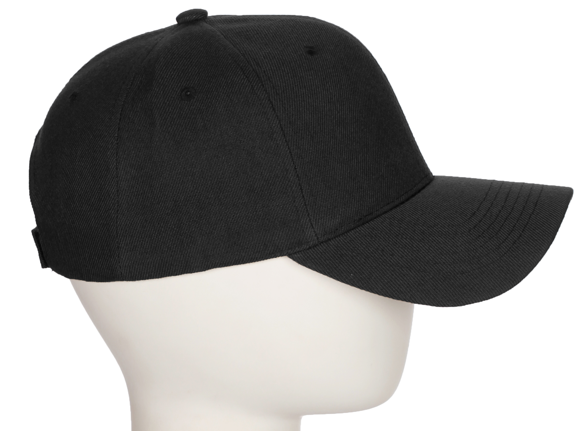 Custom A-Z Initial Letters Baseball Hat Cap - Black Hat with White ... f803d9f70b38