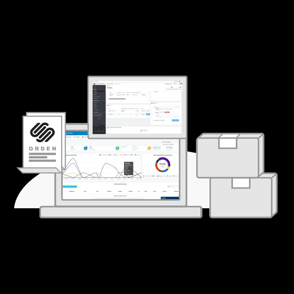 Envía - Integracion con Squarespace, realiza tus envios de paquetería.