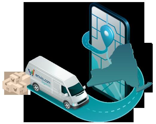 Envía paquetería shipping courrier