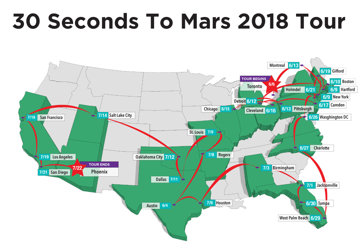 30 seconds to mars tour map