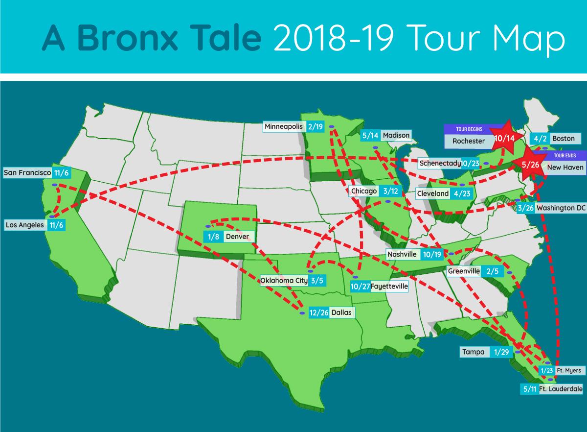 a bronx tale tour map